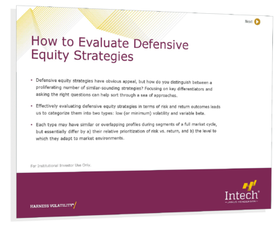 How to Evaluate Defensive Equity Strategies