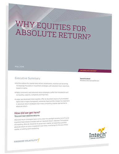 Why Equities for Absolute Return-1